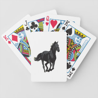 Horse - Black Stallion Bicycle Playing Cards