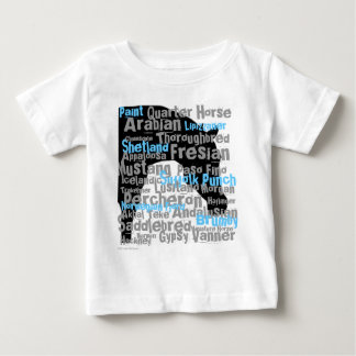 """""""Horse Breeds"""" Infant T Baby T-Shirt"""
