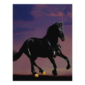 Horse galloping free 21.5 cm x 28 cm flyer
