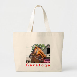 Horse Haven Barn  #47 at Saratoga Large Tote Bag