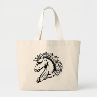 Horse Head Large Tote Bag