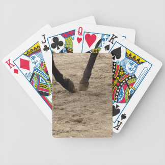 Horse hooves bicycle playing cards