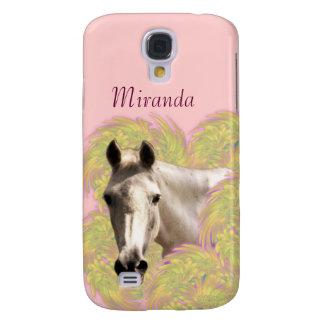 Horse in Flowers Galaxy S4 Case