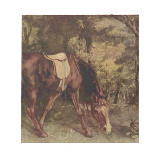 Horse in the Woods by Gustave Courbet Notepad