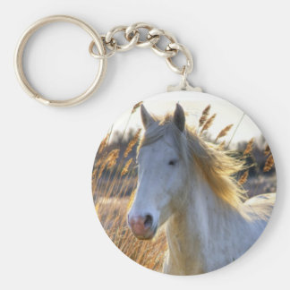 Horse In Wheat Key Ring