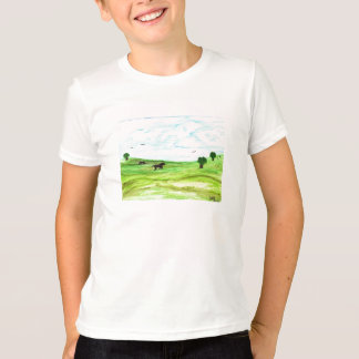 Horse Landscape Tshirt with Back Quote