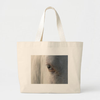 Horse looking at you large tote bag