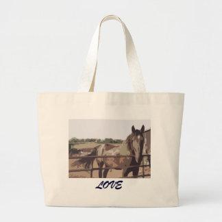 Horse Love Large Tote Bag