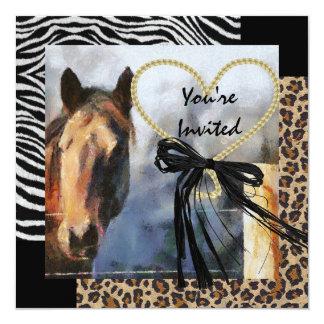 Horse Lover Wild Animal Print Muli Pupose Card