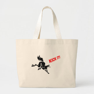 horse loves? to KICK IT! Large Tote Bag