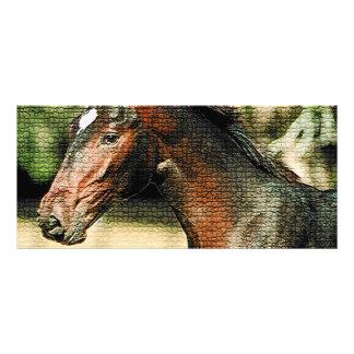 Horse Mosaic Tiles Rack Card