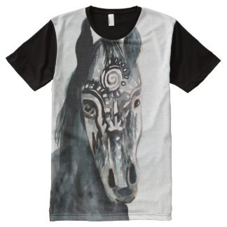 Horse Painting Men's  All-Over Printed  T-Shirt All-Over Print T-Shirt