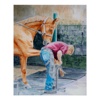 Horse Pedicure Poster