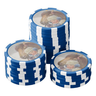 Horse Poker Chip Childhood Nostalgic Pet Bay Pony Set Of Poker Chips