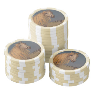 Horse Poker Chip Luck Arabian Stallion Dusk Stripe