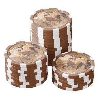 Horse Poker Chip Luck Mustang Herd Stampede Stripe Poker Chips