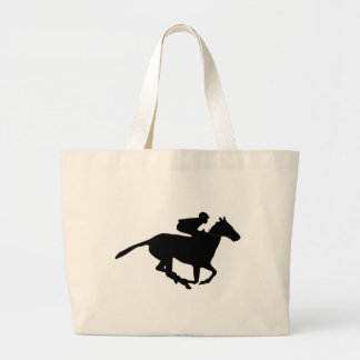 Horse Racing Pictogram Large Tote Bag
