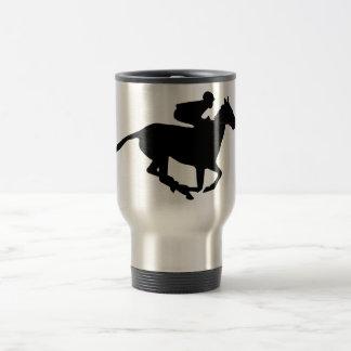 Horse Racing Pictogram Stainless Steel Travel Mug