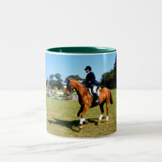 Horse riding in Jersey Mugs