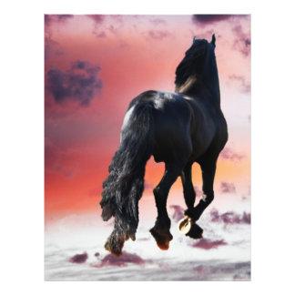 Horse running free flyer