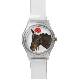 Horse santa - christmas horse - merry christmas watch