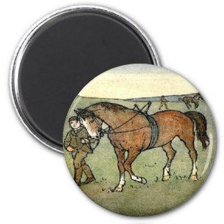 Horse School 6 Cm Round Magnet
