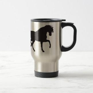 Horse Silhouette - Change background color! Travel Mug