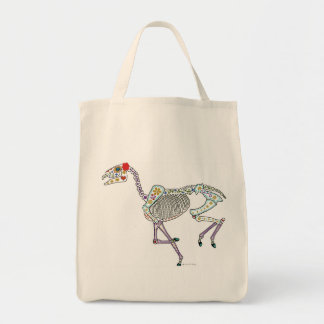 Horse Skeleton Day of the Dead Tote Bag