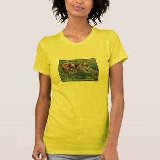Horse Trio Ladies T-Shirt