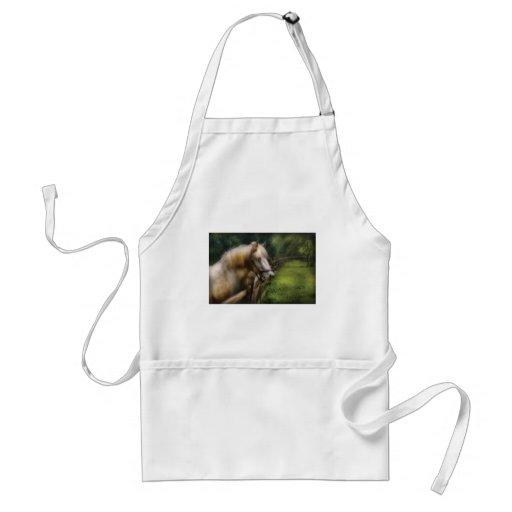 Horse - White Stallion Apron