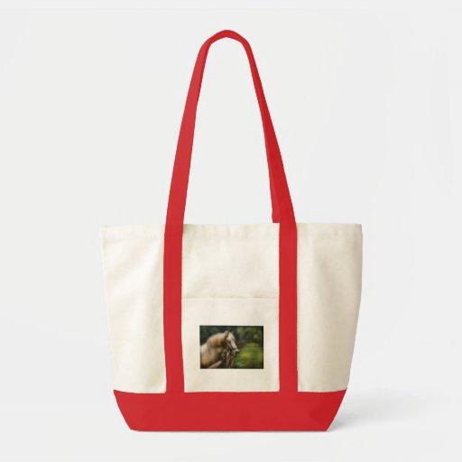 Horse - White Stallion Canvas Bag