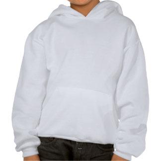 Horse - White Stallion Hooded Sweatshirts