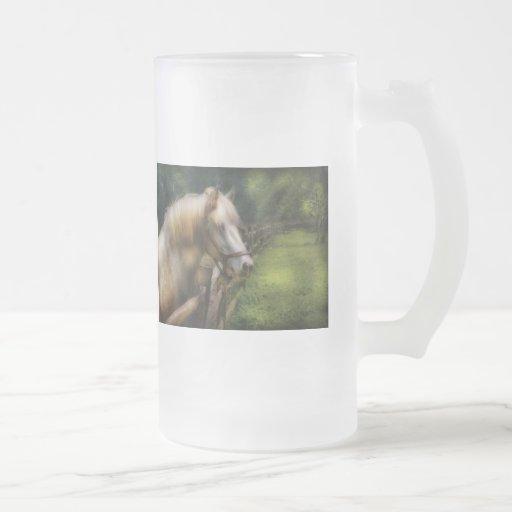Horse - White Stallion Mugs