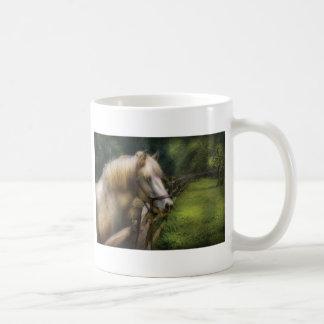 Horse - White Stallion Classic White Coffee Mug