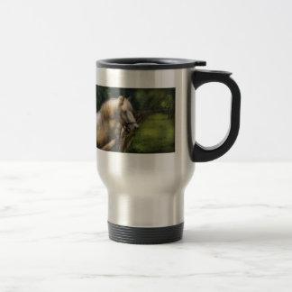 Horse - White Stallion 15 Oz Stainless Steel Travel Mug