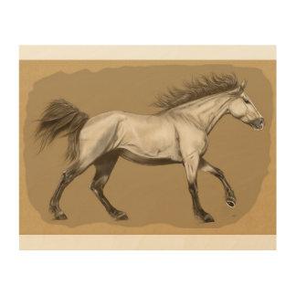 """Horse Wood Wall Art 10""""x 8"""" Wood Prints"""