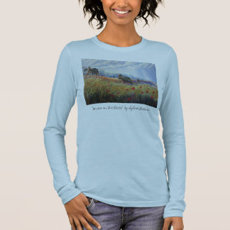 horses and poppies, long sleeve T-Shirt