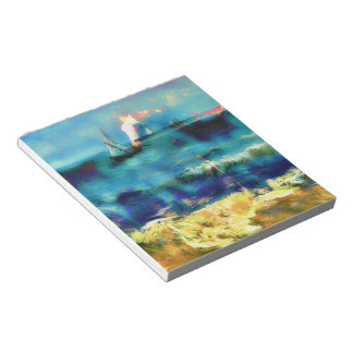 Horses and Sea - Bierstadt and Van Gogh Notepad