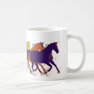 horses farm-themed basic white mug
