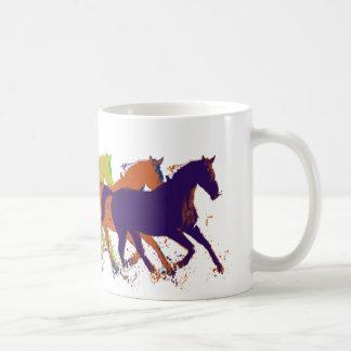 horses farm-themed coffee mug