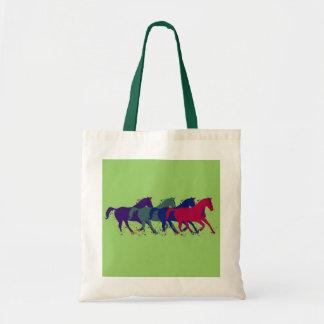horses, horsing around tote bag