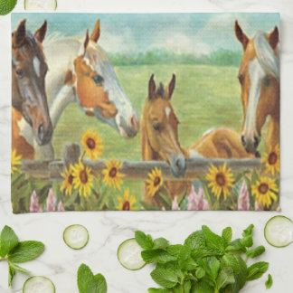 Horses Kitchen Towel