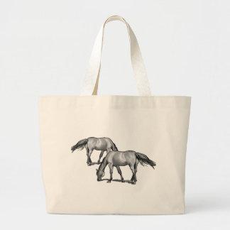 Horses Large Tote Bag