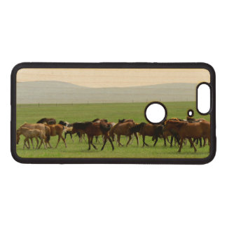 Horses on Pasture - Landscape Photograph Wood Nexus 6P Case