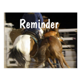Horses professional appointment reminder card
