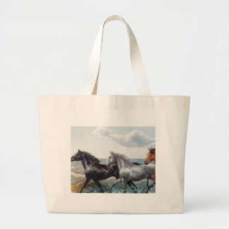 HORSES TO THE SEA LARGE TOTE BAG