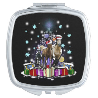 Horses with Christmas Styles Makeup Mirrors