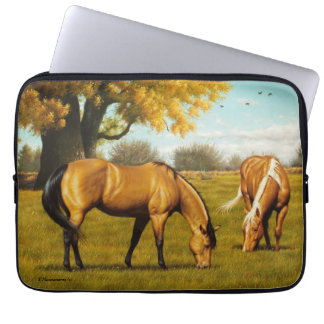 Horses with fall colors laptop neoprene cover