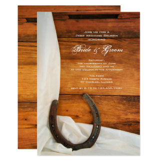 Horseshoe and Satin Country Post Wedding Brunch Card