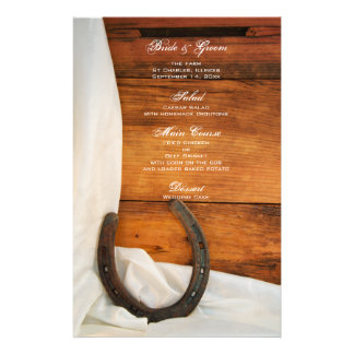 Horseshoe and Satin Country Western Wedding Menu